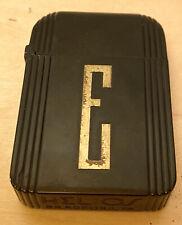 Vintage Helios Art Deco Black Bakelite Monogrammed E Bradford PA Circa 1930's