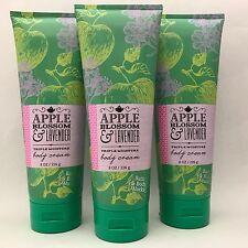 3 Bath & Body Works Apple Blossom & Lavender Triple Moisture body Cream 8 oz
