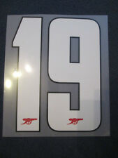 no 19 Arsenal 2012-2013 Champions League Home Football Shirt Name Set Number