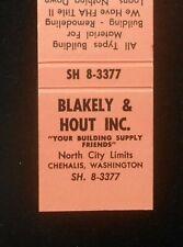 1950s Blakely & Hout Building Supply Materials North City Limits Chehalis Wa Mb