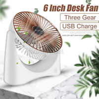 USB Desktop Fan Portable 3 Speed Cooling Handheld Rechargeable Computer