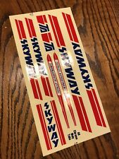 NOS 1980s SKYWAY TA Original Frame And Fork Decal / Sticker Set, Old School BMX