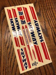 NOS 1983 SKYWAY TA Original Frame And Fork Decal / Sticker Set, Old School BMX