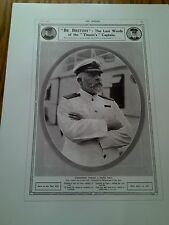 """Titanic Tribute to Brave Captian Advert Poster Print 16"""" x 12""""  to Frame?"""