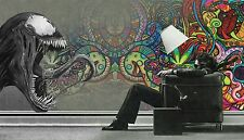 Marvel Venom - Abstract Psychedelic Graffiti Large Canvas Picture 20x30 Inch