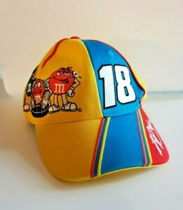 Chase Authentics Kyle Busch #18 M&M's Flex Cap/Hat Yellow Blue Racing Nascar