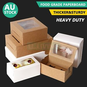Cupcake Box 2/4/6/12 Holes Window Face Muffin Wedding Party Gift Cup Cake Boxes