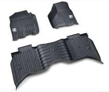 09-18 Dodge Ram Crew Cab Black Wall Weather Floor Mats Front & Rear Mopar New
