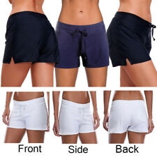 Womens Shorts Plain Bikini Swim Swimwear Ladies Boy Style Short Brief Bottoms UK