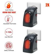 2 x 400W UK Plug-In Mini Space Heater Portable Electric Wall-outlet Furnace