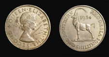 South Rhodesia 1954 2 Shilling Rare Key Date, Choice Unc,  300k Mintage