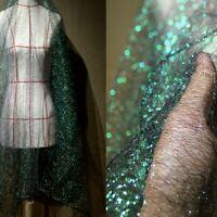Mesh Fabric Organza Sheer Gradient Dress Making DIY Mermaid Glitter Backdrop