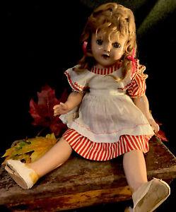 "VTG/Antique COMPOSITE BABY DOLL Sleepy Eyes 20"""
