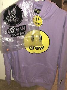 NEW IN BAG Drew House Hoodie Size Medium Lavender Sweatshirt