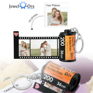Keychain KeyRing DIY Photo Picture Film Roll Jewelry Birthday Gift Personalised