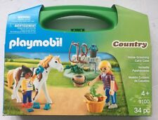 Playmobil #9100 Horse Grooming Carry Case, 34 pieces. New/ Sealed