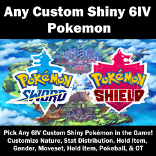 Pokemon Any Custom Shiny Ultra Shiny 6IV for Pokemon Sword & Shield SUPER SALE!!