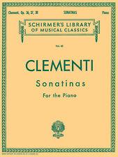 Clementi 12 Sonatinas Piano Solo Classical Sheet Music G Schirmer Book