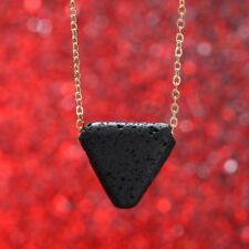 Essential Oil Diffuser Aromatherapy Necklace Triangle Lava Bead Stone Jewelry