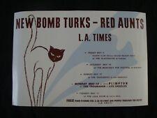 New Bomb Turks - Red Aunts live tour poster original record store promo