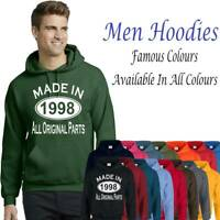 Made In 1998 All Original Parts  21St Birthday Gift Present Mens Hoodies