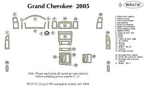 JEEP GRAND CHEROKEE 2005 DASH TRIM KIT c