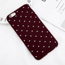 For iPhone SE 8 6s 7 Plus Slim Shockproof Silicone Polka Dot Soft TPU Case Cover