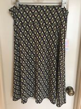 LULAROE Azure A-Line Skirt Size XL 14 16 Black Purple Green Teardrop NWT