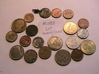World Coins & Tokens Mixed Lot of 20 Mostly WWII and Post War But Some Very Old