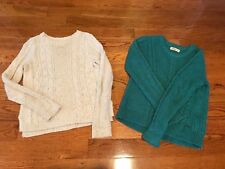 Hollister Fishermen Sweaters Women Xs Blue White Cable Knit