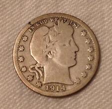 United States 1914-D Barber Quarter Coin
