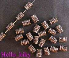 150Pcs  Antiqued copper plt barrel spacer beads A506