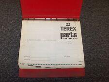 Terex 9UPM Front End Loader Tractor Factory Original Parts Catalog Manual Book