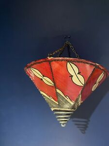 Retro Goat skin and wrought Iron Moroccan Henna light Shade Red