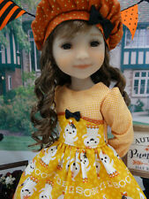 """Spooktatic - dress, hat, socks & shoes for 14.5"""" Ruby Red Fashion Friends"""