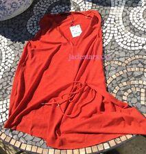 Zara Burnt Orange Top Tie Waist M Medium New 10 BNWT Rust