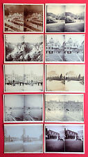 10 alte Stereo Foto 1904 Meran Venedig Arco Verona    ( F14823