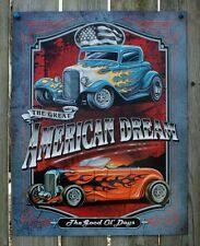 American Dream Tin Sign Man Cave Garage Hot Rod Muscle Car Rat Rod V8 Drag 21a