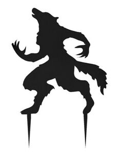 "30"" Steel Halloween Werewolf Garden Ornament Sign w/ Custom Painted Options"
