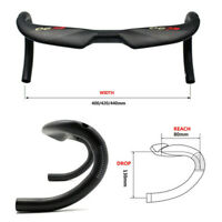 EC90 Carbon Racing Road Bicycle Bike Handlebar Drop Bar Handle 31.8*400/420/440