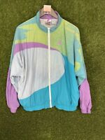 NIKE Womens Medium M Racer Windbreaker Jacket Vintage Rare Challenge Court Pink