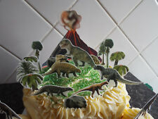 Dinosaur Jurassic Scene Edible Wafer Cake Decoration Set