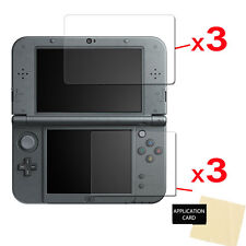 6x Clear Screen Protector Guards with Cloth for NINTENDO 3DS XL & New 3DS XL