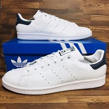 Adidas Originals Stan Smith Men's Athletic Tennis Casual Sneaker White Blue Shoe