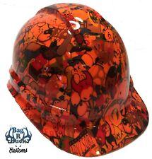 New listing Hard Hat High Gloss Hi Vis Orange Sticker Bomb 6 Point Ratchet Suspension