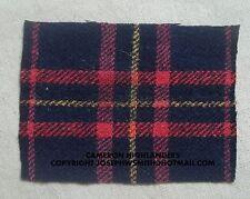 WW2 British Army Queens own Cameron Highlanders tartan patch, battledress badge