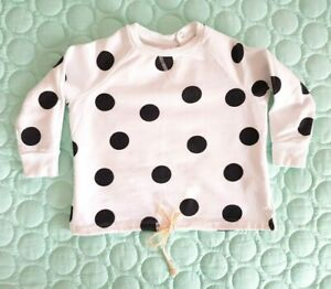 SEED Sz 1-2 Girls Polka Dot Cotton Jumper Sweat Shirt