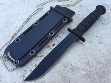 """6"""" Compact Neck / Boot  Knife With Necklace Bowie Type Blade"""