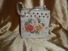 """NIB"" International Bazaar  BEAUTIFUL  Porcelain Floral Bag"