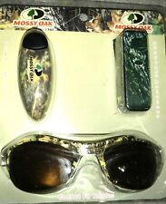 Mossy Oak Camo Sunglasses Retainer and Visor Clip Set, Triple Pack Camouflage